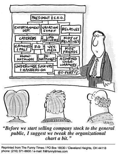 Funny corporate brad veley  cartoon, May 25, 2005