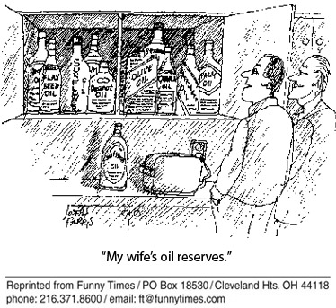 Funny food marriage cooking cartoon, September 07, 2005