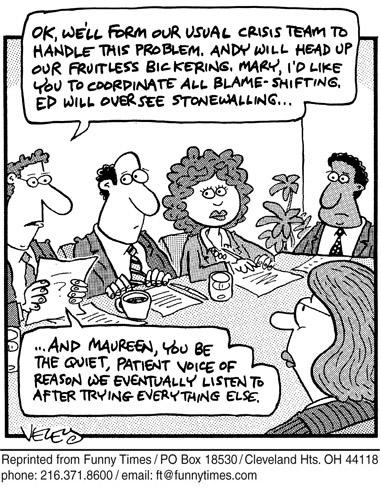 Funny crisis brad veley  cartoon, November 02, 2005