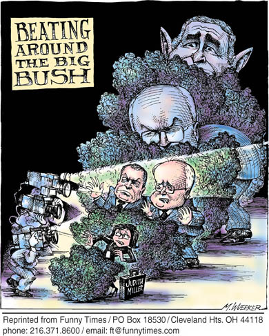 Funny bush george matt  cartoon, November 09, 2005