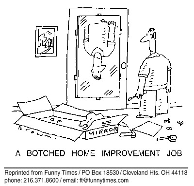 Funny home improvement botched  cartoon, November 16, 2005