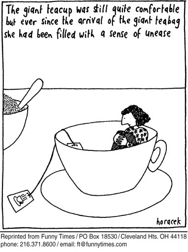 Funny 2005 giant teacup  cartoon, November 23, 2005