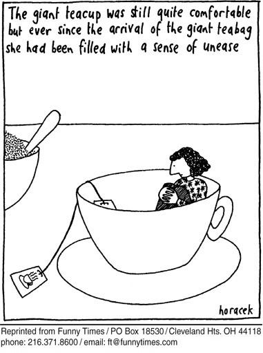 Funny 2005 giant teacup  cartoon, November 23, 2005