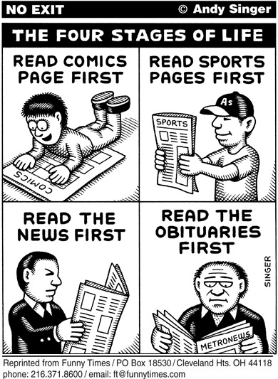 Funny andy singer four  cartoon, November 30, 2005
