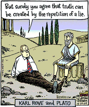 Funny karl rove plato  cartoon, December 08, 2005
