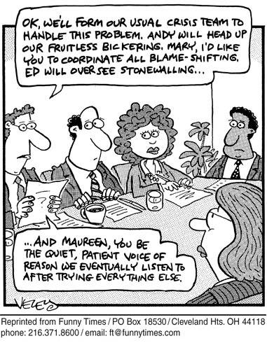 Funny 2005 corporate culture  cartoon, December 15, 2005