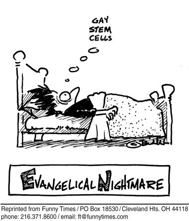 Funny evangical nightmare gay  cartoon, January 26, 2006