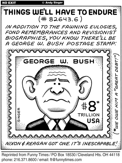 Funny bush george stamp  cartoon, February 22, 2006