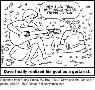 Funny guitar goal stivers  cartoon, March 01, 2006