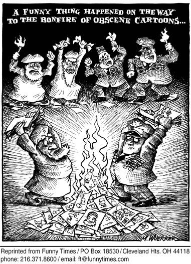 Funny matt wuerker government  cartoon, April 26, 2006