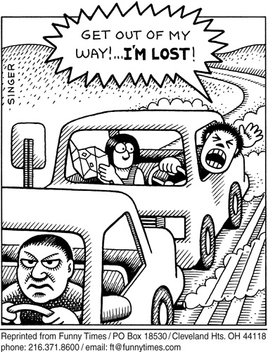 Funny andy singer traffic  cartoon, May 03, 2006