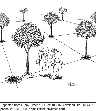 Funny tree planning order  cartoon, May 24, 2006