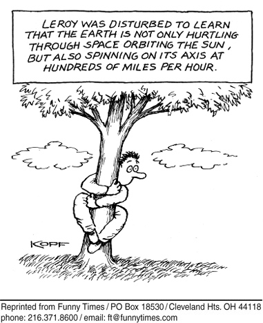 Funny kopf tree earth  cartoon, July 12, 2006