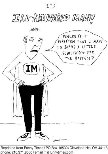 Funny man superhero male  cartoon, August 09, 2006