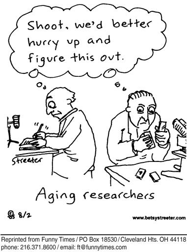 Funny streeter science Betsy  cartoon, November 15, 2006