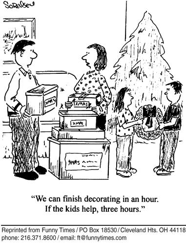 Funny kids parents sorensen  cartoon, December 13, 2006