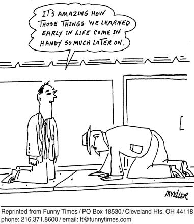 Funny mueller PS crawl cartoon, December 27, 2006