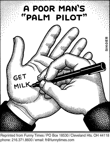 Funny andy singer palm  cartoon, January 10, 2007