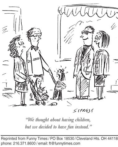 Funny kids parents David  cartoon, January 24, 2007