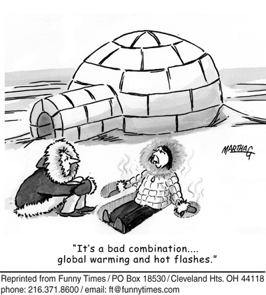 Funny woman global warming  cartoon, February 07, 2007