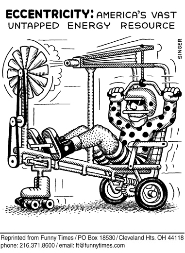 Funny andy singer energy  cartoon, February 28, 2007