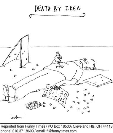 Funny death ikea home  cartoon, June 27, 2007