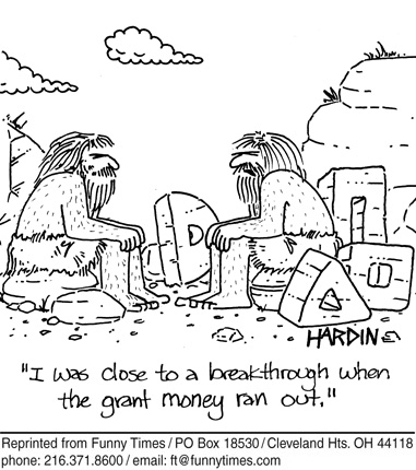 Funny science Hardin cavemen  cartoon, September 05, 2007