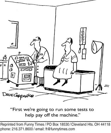 Funny doctor science health  cartoon, September 12, 2007