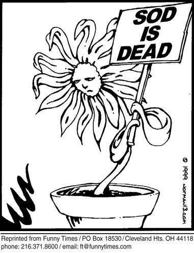 Funny surreal religion dead  cartoon, October 10, 2007