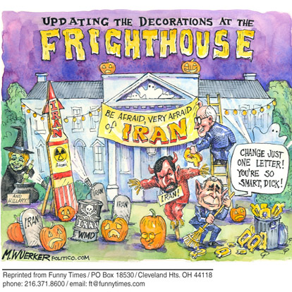 Funny bush george matt  cartoon, October 31, 2007