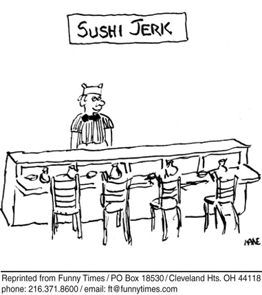 Funny food work cooking  cartoon, November 28, 2007