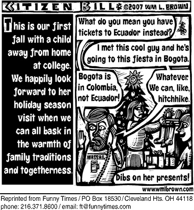 Funny home love Brown  cartoon, December 18, 2007