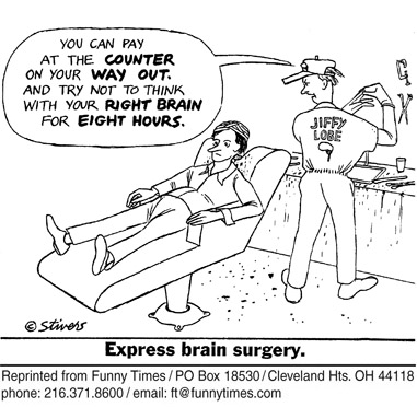 Funny surgery stivers Mark  cartoon, January 30, 2008