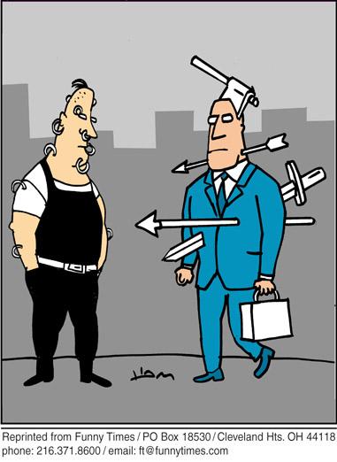 Funny piercing sword extreme  cartoon, February 13, 2008
