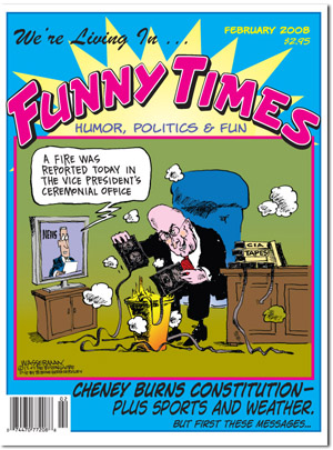 Funny Times February 2008 issue cover