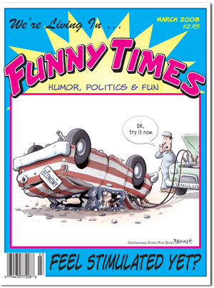 Funny Times March 2008 issue cover