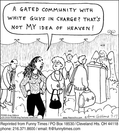 Funny white god gibbons cartoon, May 07, 2008