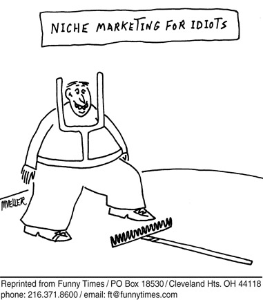 Funny mueller traffic marketing  cartoon, June 25, 2008