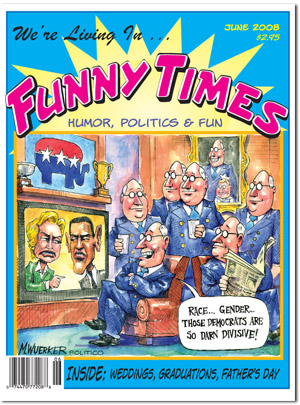 Funny Times June 2008 issue cover