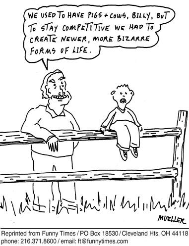 Funny mueller life pigs  cartoon, July 30, 2008