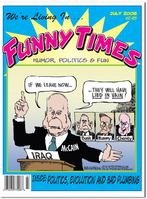 Funny Times July 2008 issue cover