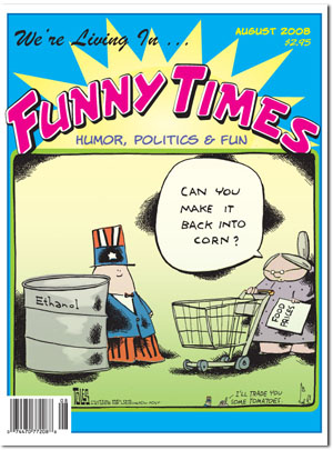 Funny Times August 2008 issue cover