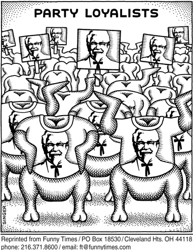 Funny andy singer politics  cartoon, September 03, 2008