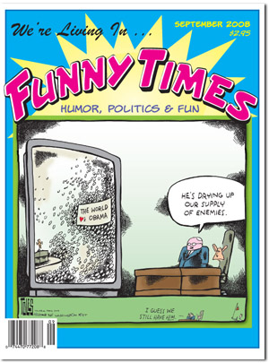 Funny Times September 2008 issue cover