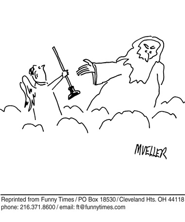 Funny mueller god toothpaste  cartoon, October 27, 2008
