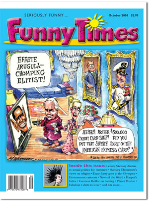 Funny Times October 2008 issue cover