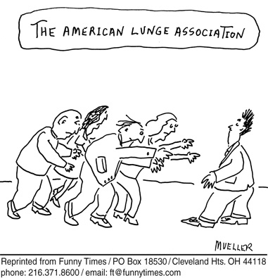 Funny mueller punny pun  cartoon, November 12, 2008