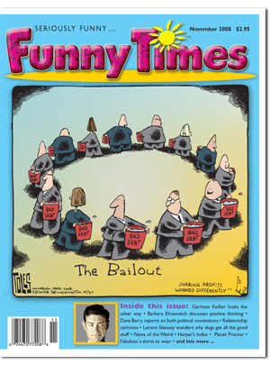 Funny Times November 2008 issue cover