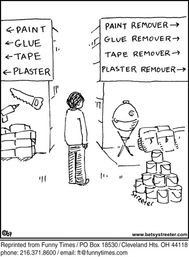 Funny home improvement streeter  cartoon, December 30, 2008