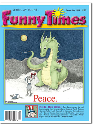 Funny Times December 2008 issue cover